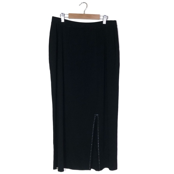 Misook Dresses & Skirts - Exclusively Misook Crystal Black Maxi Skirt w Slit